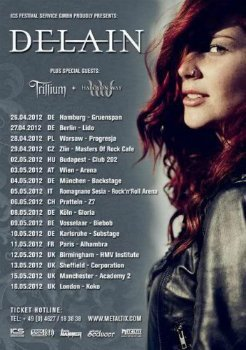 Delain - 2012.05.15 - Club Academy, Manchester, UK (2012)