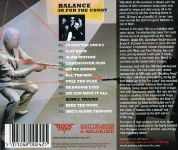 Balance - In For The Count [Rock Candy Remastered & Reloaded] back