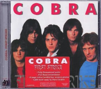 COBRA (Jimi Jamison) - First Strike [Rock Candy remaster] front