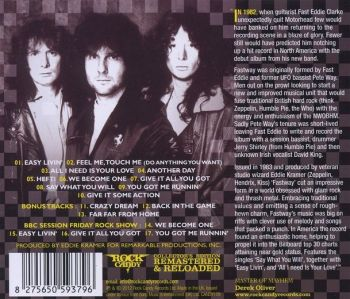 FASTWAY - Fastway [Rock Candy remaster +7] back