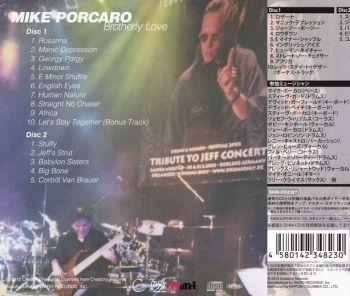 MIKE PORCARO - Brotherly Love {SHM-CD Edition With Bonus CD} back