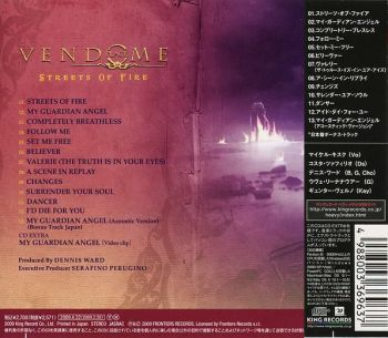 PLACE VENDOME - Streets Of Fire [Japan Edition] back