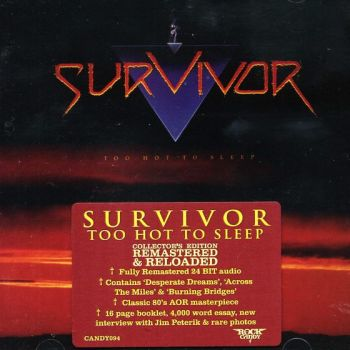 SURVIVOR - Too Hot To Sleep [Rock Candy Remastered & Reloaded] front