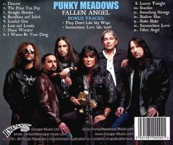 PUNKY MEADOWS - Fallen Angel [Special Edition +2] back