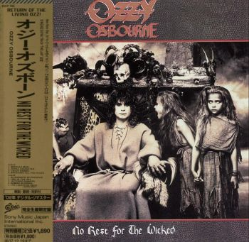 OZZY OSBOURNE - No Rest For The Wicked [LTD Japan miniLP remastered +2] front
