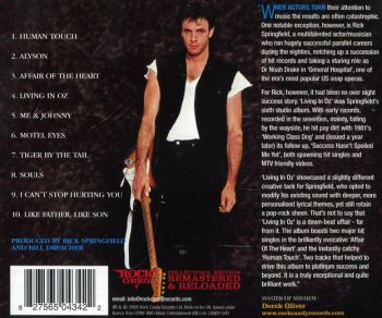 Rick Springfield - Living In Oz [Rock Candy remastered] back